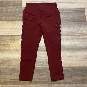 🎉Sale🎉ALO Athletic Cropped Yoga Pants Burgundy